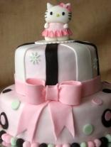 kitty cake detail