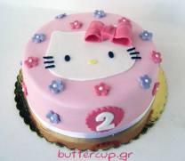 Hello Kitty cake flat
