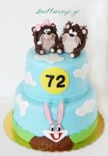Mr. and Mrs Taz cake