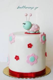 pink ladybird cake