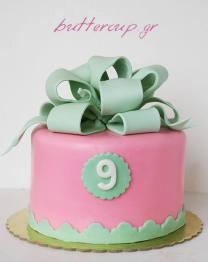 big bow pink cake