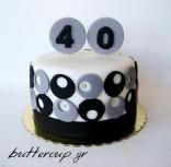 black and grey circles cake-1wtr