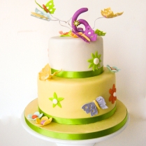 butterfly two tier cake