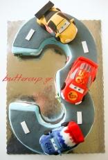 Cars 2 race track cake