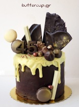 Chocolate-and-gold-drip-cake