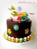 chocolate bow cake-1wtr