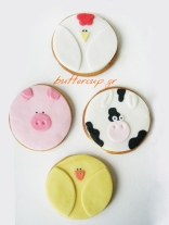 farm animal cookies