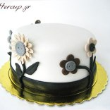 flower button cake1