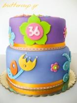 flower power cake