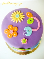 flower power cake top view