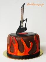 guitar hard rock cake