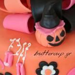 halloween cake detail