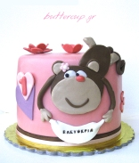 monkey first birthday cake wtr