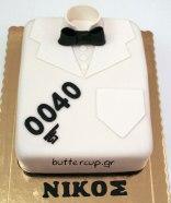 Jame Bond tuxedo cake