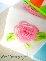 painted present cake-2wtr