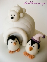 penguins and igloo topper wtr
