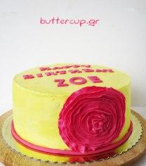 pink-ruffle-flower-cake