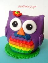 rainbow owl cake2 wtr