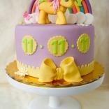 rainbow pony cake-6wtr