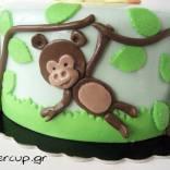 Safari cake detail
