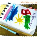 sketchbook cake