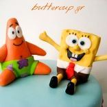 sponge bob and patric cake-3wtr