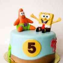sponge bob and patric cake-6wtr