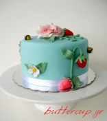 strawberries and rose cake-5wtr