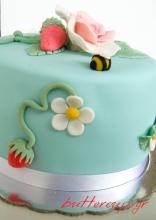 strawberries and rose cake-7wtr