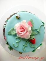 strawberries and rose cake-8wtr