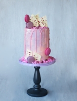 tall naked pink cake