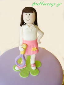 tennis cake girl topper