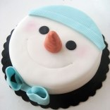 snowman-cake