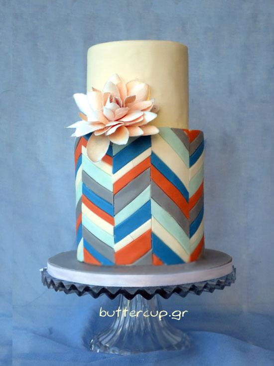 geometric-boutonniere-cake