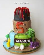 dinosaur-volcano-cake