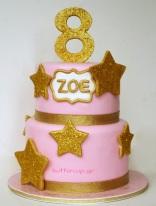 glitter-star-cake