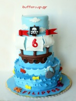 pirate-ship-and-sea-life-four-tiered-cake