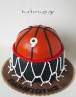 two tier basketball cake