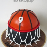 two tier basketball cake